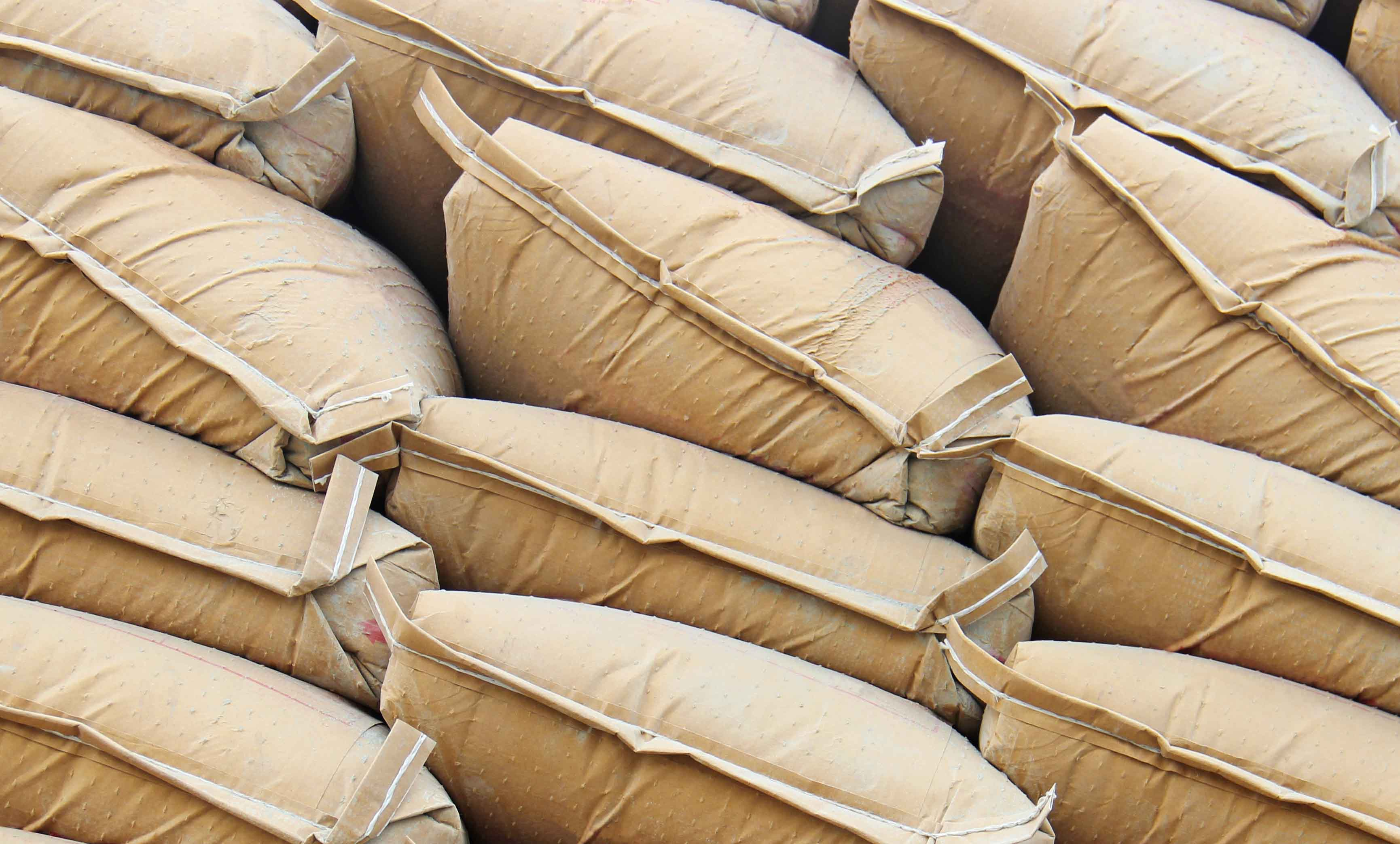 bags & sack testing - Pile sacks in warehouse
