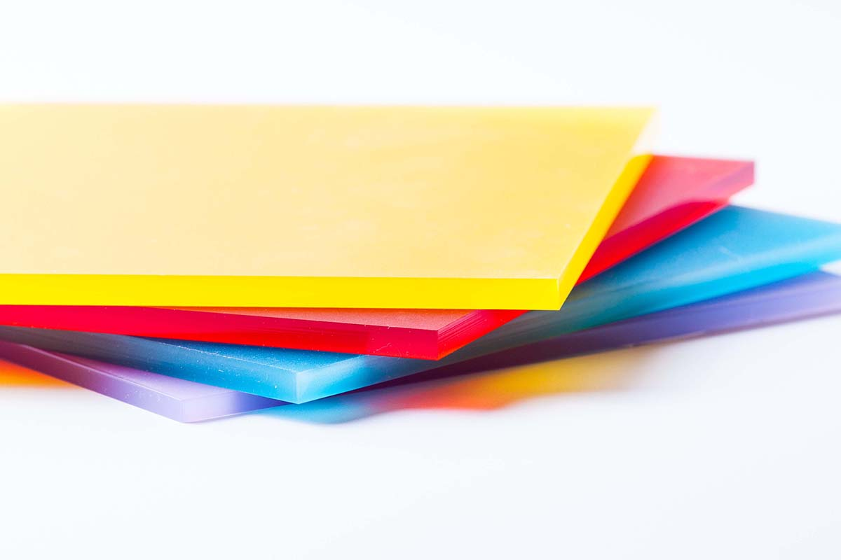 compression molding - Plexiglass sheets colored