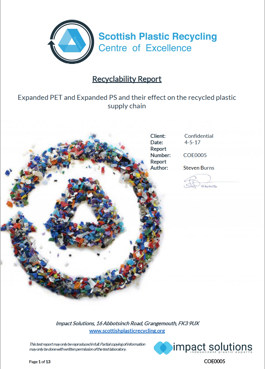 expanded PET - Plastic Recycling Supply Chain