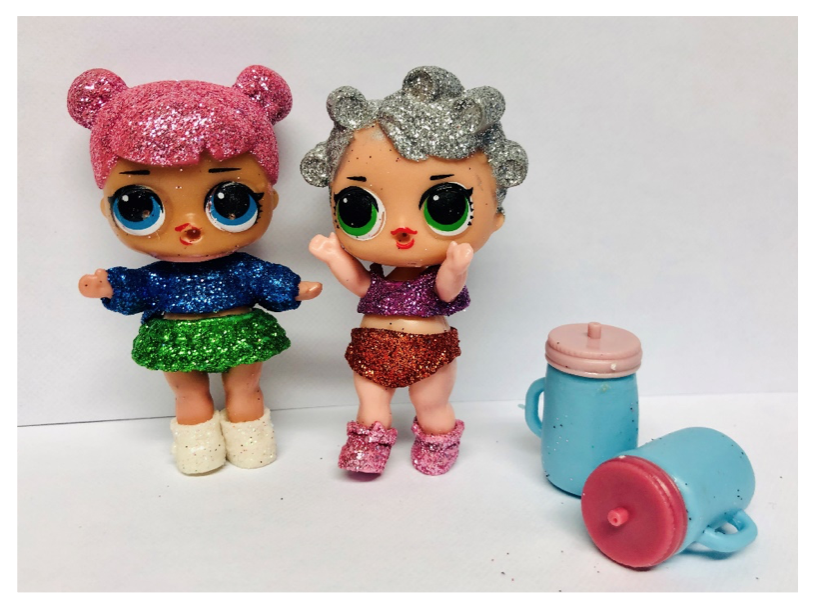 Trading Standards Testing - Figure 1 - Counterfeit LOL Dolls from an online source